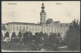 645d.Warsaw. Town Hall. Passed Mail 1911 Warsaw Berlin. Railway Post. Russian Empire - Pologne