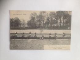 Ypres Ieper Ecole D'Equitation Carroussels De Haies Pour Jeunes Chevaux De Remonte, Montés Par Les Officiers  MILITAIRE - Ieper