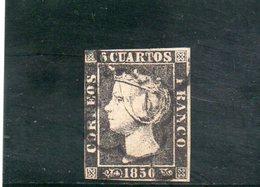 ESPAGNE 1850 O DEFECTEUX - Usados