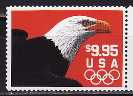 USA, 1991, Olympic Games, Eagl Express Mail Birds, 1 Stamp - Summer 1992: Barcelona