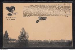 1503 AV57 AK PC CPA MADAME LA BARONNE DE LA ROCHE ET SON BIPLAN CONSTRUIT PAR LES FRERES VOISIN NC TTB - ....-1914: Precursori