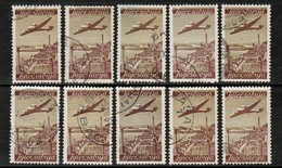YUGOSLAVIA   Scott # C 17 USED WHOLESALE LOT OF 10 (WH-264) - Stamps