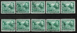 CYPRUS  Scott # 144 USED WHOLESALE LOT OF 10 (WH-266) - Stamps