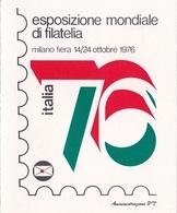 PICCOLO FOLDER / Esposizione Mondiale Di Filatelia _ Milano 12-24/10/1976 - 6. 1946-.. Republik