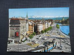 SWITZERLAND - Zürich - Central Und Limmatquai Mit Den Alpen - ZH Zurich