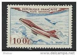 "FR Aerien YT 30 (PA) "" Prototype, Mystère IV "" 1954 Neuf** - Poste Aérienne"