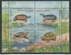 RUSSIA, 2017, MNH,TURTLES, TORTOISES, SHEETLET - Schildkröten