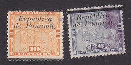 Panama, Scott #134-135, Used, Map Overprinted, Issued 1903 - Panama