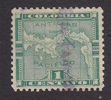Panama, Scott #151, Used, Map Overprinted, Issued 1903 - Panama