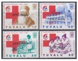 Tuvalu Nobel Red Cross Croix Rouge SPECIMEN MNH - Nobel Prize Laureates