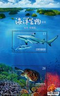 Taiwan - 2018 - Marine Life - Shark And Green Sea Turtle - Mint Souvenir Sheet - Neufs