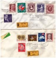 OS36AUSTRIA 1980 Storia Postale Lotto 2 Raccomandate - 1945-.... 2nd Republic