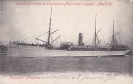 Transports > Bateaux > Paquebot Provence Société Générale De Transports Maritimes A Vapeur Marseille - Steamers