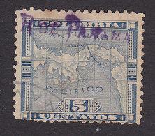 Panama, Scott #153, Used, Map Overprinted, Issued 1903 - Panama
