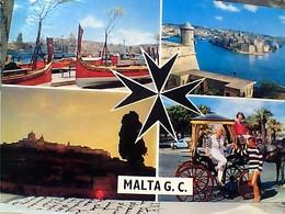 MALTA VUES MDINA HARBOUR SENGLEA STAMP TIMBRE  SELO 3 D SICULO NORMAN  GX5655 - Malta