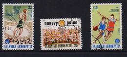 GREECE STAMPS 1987/ BASKETBALL CHAMPIONSHIP-4/5/87-USED-COMPLETE SET - Grèce