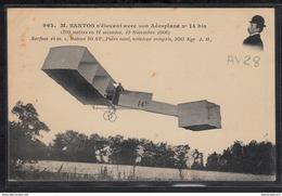 1481 AV028 AK PC CPA M SANTOS S ELEVANT AVEC SON AEROPLANE 14 BIS NON CIRCULER TTB - ....-1914: Precursori