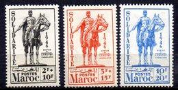 Col10    Maroc  N° 241 à 243 Neuf X MH  Cote : 5,50 Euro Cote 2015 - Morocco (1891-1956)