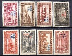 Col10    Maroc  N° 153 à 160 Neuf X MH  Cote : 44,00 Euro Cote 2015 - Morocco (1891-1956)