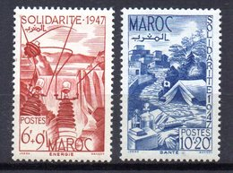 Col10    Maroc  N° 166 & 167 Neuf X MH  Cote : 5,00 Euro Cote 2015 - Morocco (1891-1956)