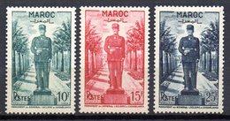 Col10    Maroc  N° 299 à 301 Neuf X MH  Cote : 6,50 Euro Cote 2015 - Morocco (1891-1956)