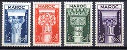 Col10    Maroc  N° 315 à 318 Neuf X MH  Cote : 11,00 Euro Cote 2015 - Morocco (1891-1956)