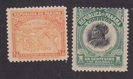 Panama, Scott #195, 197, Mint No Gum, Map, Balboa, Issued 1909 - Panama