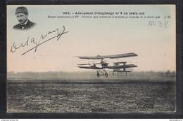 1487 AV038 AK PC CPA AEROPLANE DELAGRANGE N 2 EN PLEIN VOL NON ECRITE TTB - ....-1914: Precursori