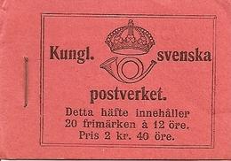 SWEDEN, 1918, Booklet 10 0 (Facit), Mi 72, Gustav V, Inverted - Boekjes