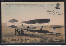 1488 AV039 AK PC CPA BIPLAN SANCHEZ BESA MONTE PAR DELAGRANGE NON ECRITE TTB - ....-1914: Precursori