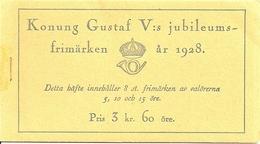 SWEDEN, 1928, Booklet 21 0 (Facit), Mi 208/10, Gustav V 70 Years, Inverted - Boekjes