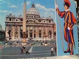 VATICANO ROMA S PIETRO E GUARDIA GARDE SVIZZERA STAMP TIMBRE  SELO 10+20+90 LIRE Mestieri  GX5662 - Vatican