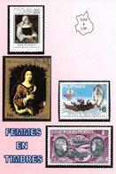 """Série Eure Et Loir Et Les Timbres CP N° 10 """"Femmes En Timbres""""  Maintenon,  Chartres, Sainville (par 5 Exemplaires - Stamps (pictures)"""