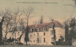 ***  49  ***  St Clément Des Levées  Château De Combres Papier Toilé Timbrée Superbe - France