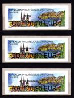 Atm-Lisa / Brother Lot 0.78, 0.80, 0.95 €  France-Croatie, Salon D'automne Paris 2018 - 2010-... Illustrated Franking Labels