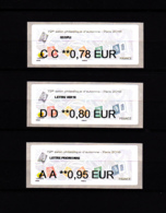 Atm-Lisa / Nabanco Lot 0.78, 0.80, 0.95 €  Marianne L'engagée, Salon D'automne Paris 2018 - 2010-... Illustrated Franking Labels