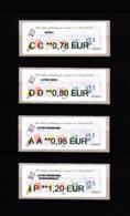 Atm-Lisa / Nabanco Lot 0.78, 0.80, 0.95, 1.20 €  Marianne L'engagée, Salon D'automne Paris 2018 - 2010-... Illustrated Franking Labels