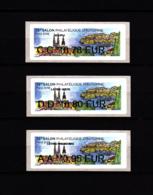 Atm-Lisa / Nanbanco Lot 0.78, 0.80, 0.95 €  France-Croatie, Salon D'automne Paris 2018 - 2010-... Illustrated Franking Labels