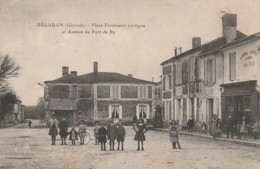 ***  33  ***   BEGADAN  Place Ferdinand Lartigue - Voyagé TTB - France