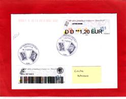 Atm-Lisa / Nabanco, Lettre Suivie 20 Gr, 1,20 €, Voyagée, Obl 08/11/18, Marianne L'engagée, Salon D'automne Paris 2018 - 2010-... Illustrated Franking Labels
