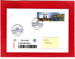 Atm-Lisa / Nabanco, Lettre Verte + Sticker Suivi, Voyagée, Obl 08/11/18, France-Croatie, Salon D'automne Paris 2018 - 2010-... Illustrated Franking Labels