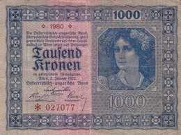 TAUSEND KRONEN 1000. YEAR 1980-BILLETE BANKNOTE BILLET-BLEUP - Oostenrijk