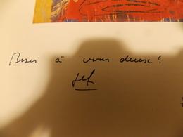 Catague Peinture.signature Manuscrite De GEF GRAVIS ET TONY SOULIE - Livres, BD, Revues