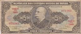 CINCO CRUZEIROS, BRASIL. YEAR 1962~1964-BILLETE BANKNOTE BILLET-BLEUP - Brazil