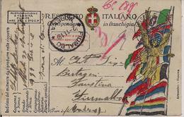 R.ESERCITO ITALIANO-CORRISPONDENZA IN FRANCHIGIA-POSTA MILITARE A 94, VERIFICATO PER CENSURA,1918-FIUMALBO(MODENA) - War 1914-18