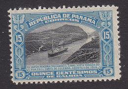 Panama, Scott #215, Mint Hinged, SS Panama In Culebra Cut, Issued 1918 - Panama