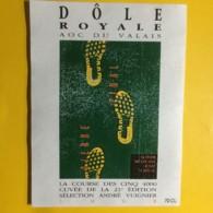 9042 - Sierre Zinal La Course De 5 4000 21e édition 1994 Suisse Dôle Et Fendant 2 étiquettes - Etiketten