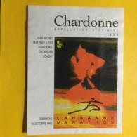 9043 - Lausanne Marathon 1995 Suisse Chardonne 1994 - Etiquettes