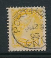 CANADA, 1889 1c (2nd Ottawaw Print) Postmark PORT HOPE ONT - 1851-1902 Regering Van Victoria