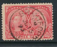 CANADA, 1897 3c Jubilee Postmark BRANTFORD ((Ont) - 1851-1902 Regering Van Victoria